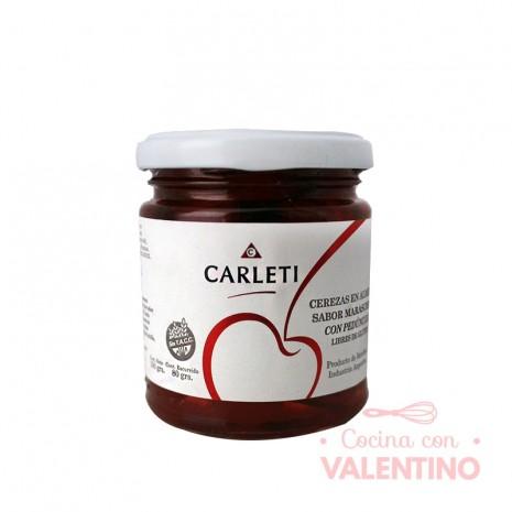 Cerezas al Maraschino Rojas c/Palito Carleti - Frasco 190Grs