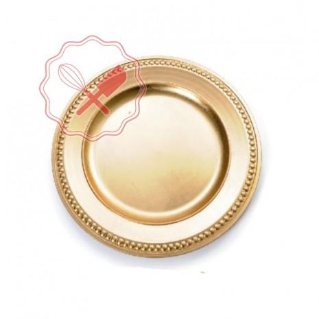 Plato Plast. Oro Borde Borlas