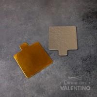 Formato c/Pestaña Oro/Plata  8x8cm 10 u