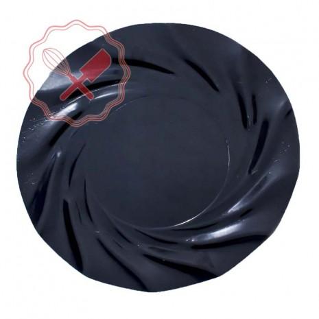 Plato Acuario Negro 35cm