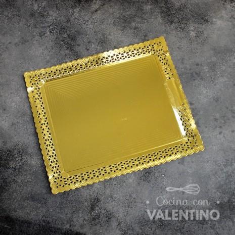 Plato Aries Oro Rect. 27x32cm