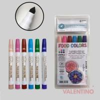 Marcadores Comestibles Pastel 6 Colores Punta Cóni