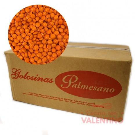 Lentejas Mini de Chocolate Naranja - 11Kg