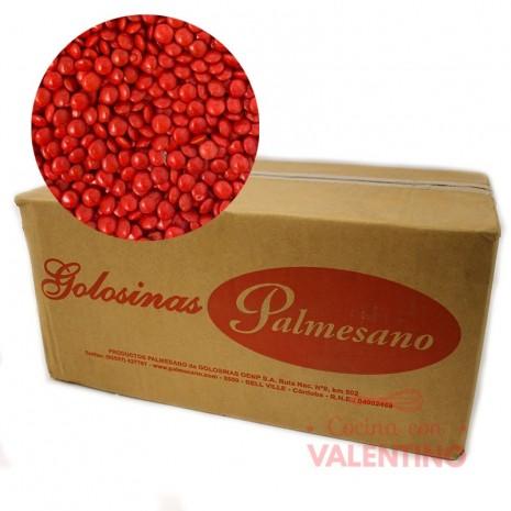 Lentejas Mini de Chocolate Rojo - 11Kg.