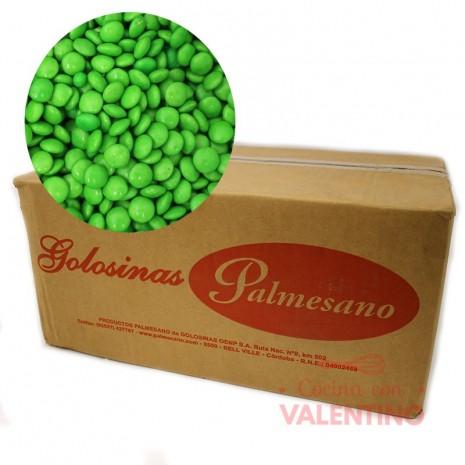 Lentejas Mini de Chocolate Verde - 11Kg.