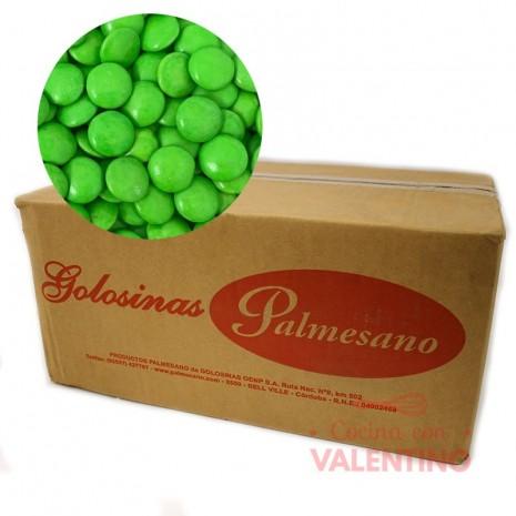 Lentejas de Chocolate Verde - 10Kg.