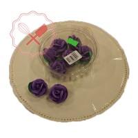 Adorno Azucar Rosa Especial c/hoja - 4u