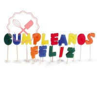 Velas frase Feliz Cumpleaños