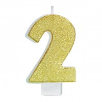Vela Número Glitter