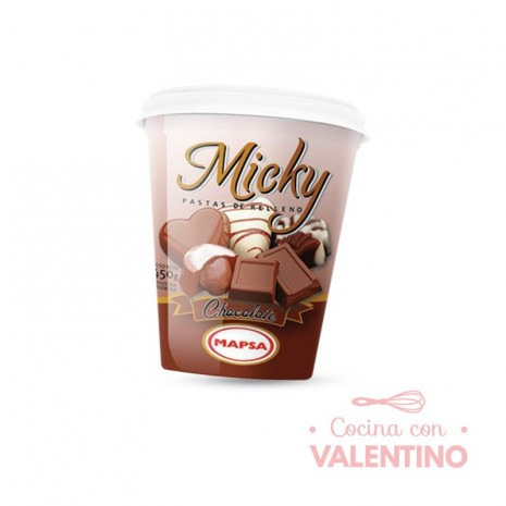 Pasta Relleno Micky Chocolate - 450Grs