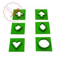 Cortante Plast. Galleta Med. 6u Verde Cooper