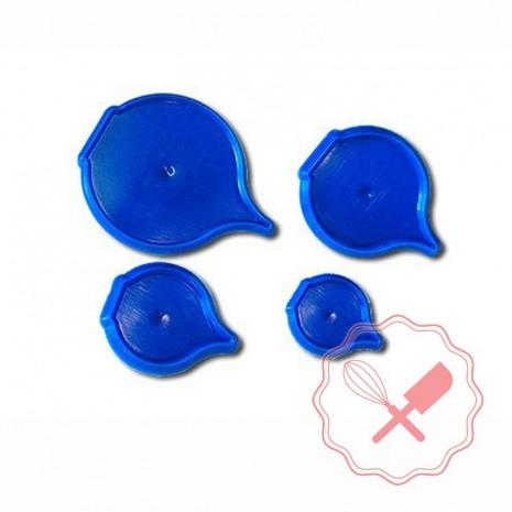 Cortante Plast. Petalos Caja 4u Parpen