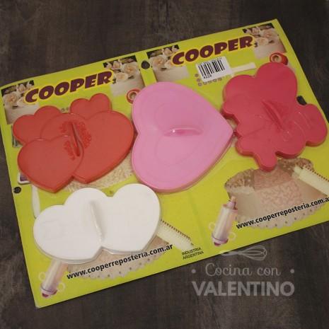 Cortantes Plast. Marcadores Corazón 4u Cooper