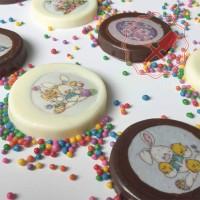 Kit Monedas de Chocolate Pascua (Lámina + placa)