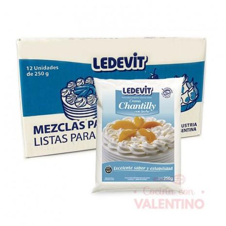Crema Chantilly 250Grs - Caja x 12 Ledevit