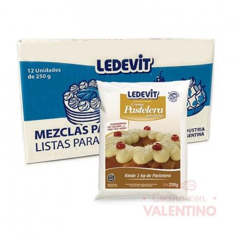 Crema Pastelera En Frio - Caja x 12 Ledevit 250Grs