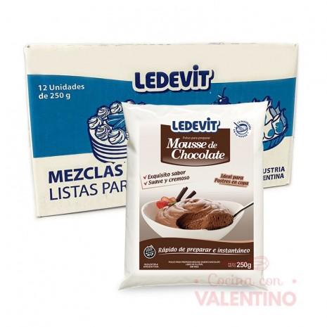 Mousse Chocolate Caja x 12 Ledevit - 250Grs