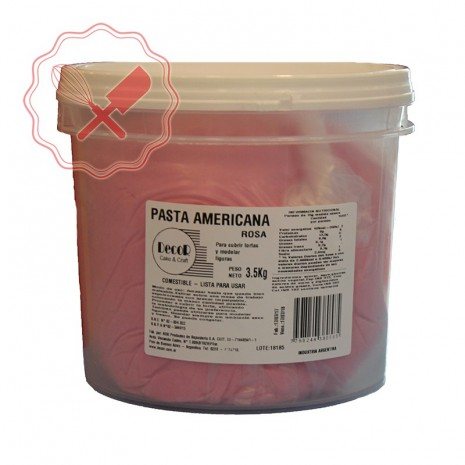 Pasta Americana Balde Rosa - 3.5Kg
