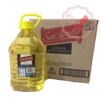 Aceite Girasol Alto Oleico San Agustín 5Lt - Caja 4u