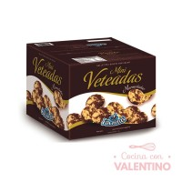 Tapas Alfajor Mini Veteadas 400gr Fachitas CAJA 12