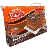 Bizcochuelo Rectangular Capas Chocolate 750Grs. Valente